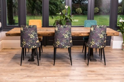 backs of floral yasmin chairs