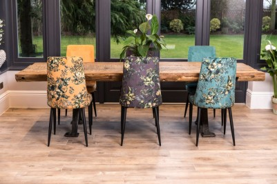 floral yasmin velvet dining chairs