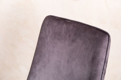cloud grey velvet dining chairs