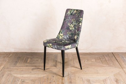 floral grey chair
