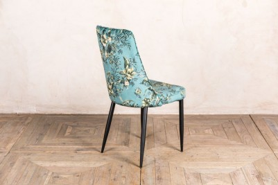 floral teal dining chair