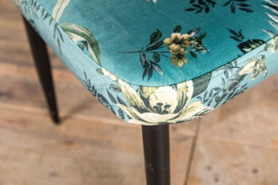 floral teal patterned chair
