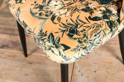 floral yellow patterned chair