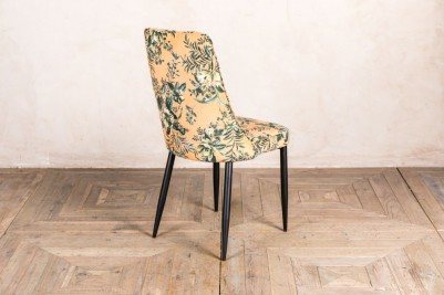 floral yellow restaurant chair