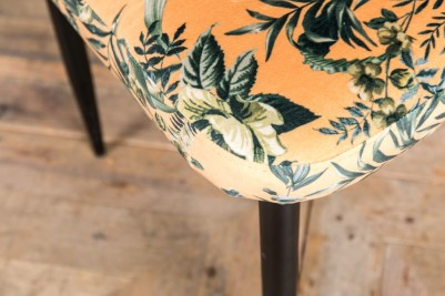 floral yellow velvet dining chair