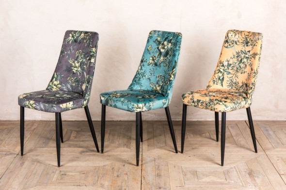 Pair of Yasmin Velvet Dining Chairs