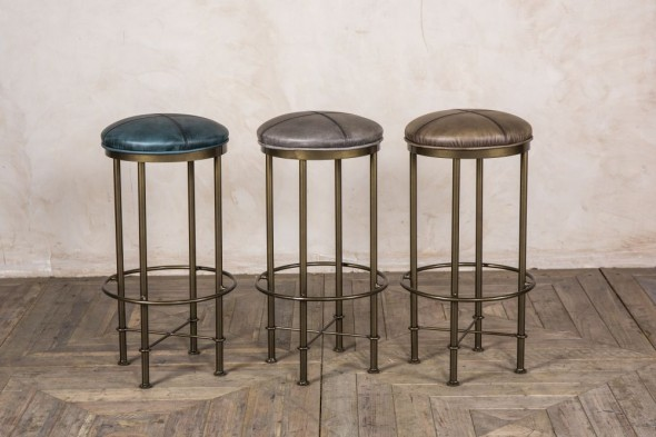 York Upholstered Bar Stools