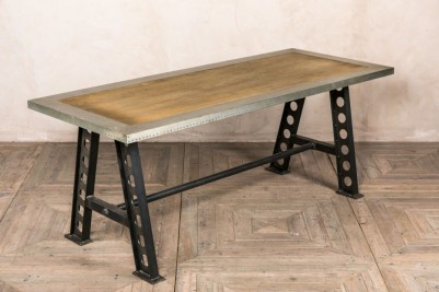 zinc edged table