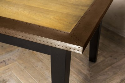 copper edge dining table