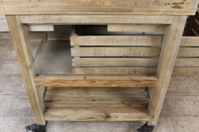 reclaimed pine kitchen island