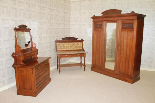 Wardobe, Dressing Table & Wash Stand - Bedroom Suite