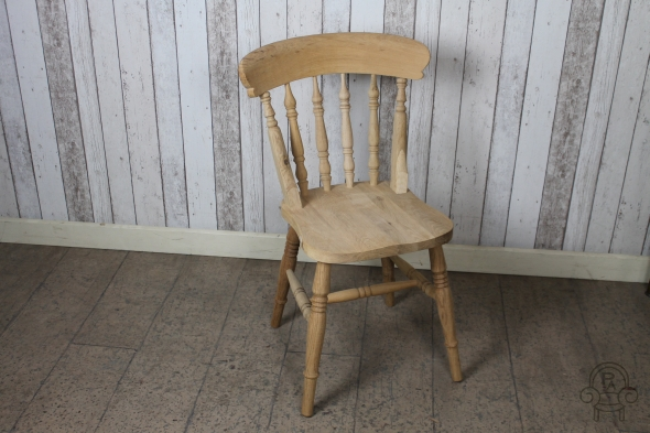 Solid Oak Spindle Back Dining Chair