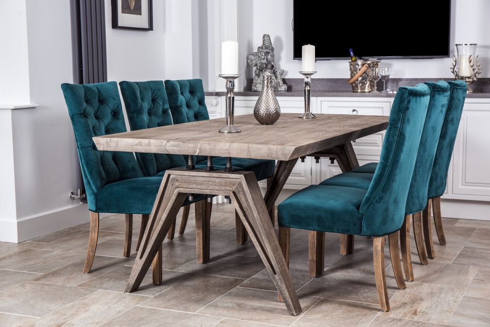 Dining Table Teal Chairs Off 64, Teal Dining Room Chairs