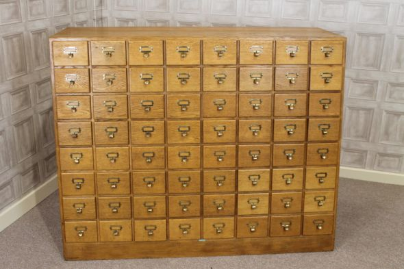 Vintage Index Filing Cabinet Wine