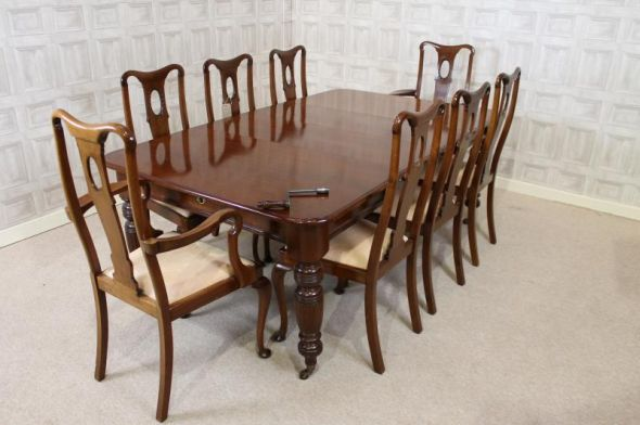edwardian table and chairs