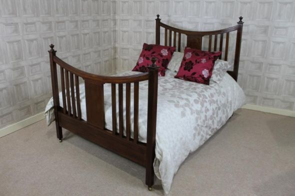 inlaid edwardian mahogany bed