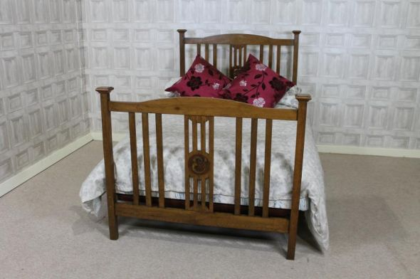 oak arts and crafts bed