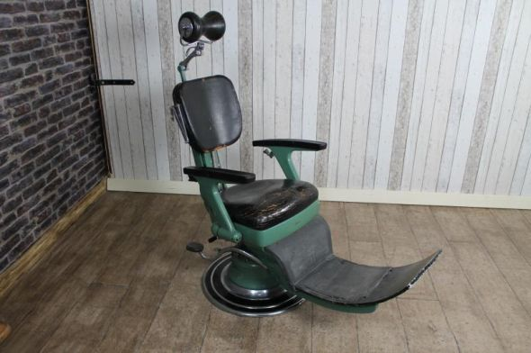 - VINTAGE BARBER'S CHAIR DENTIST CHAIR Peppermill Interiors
