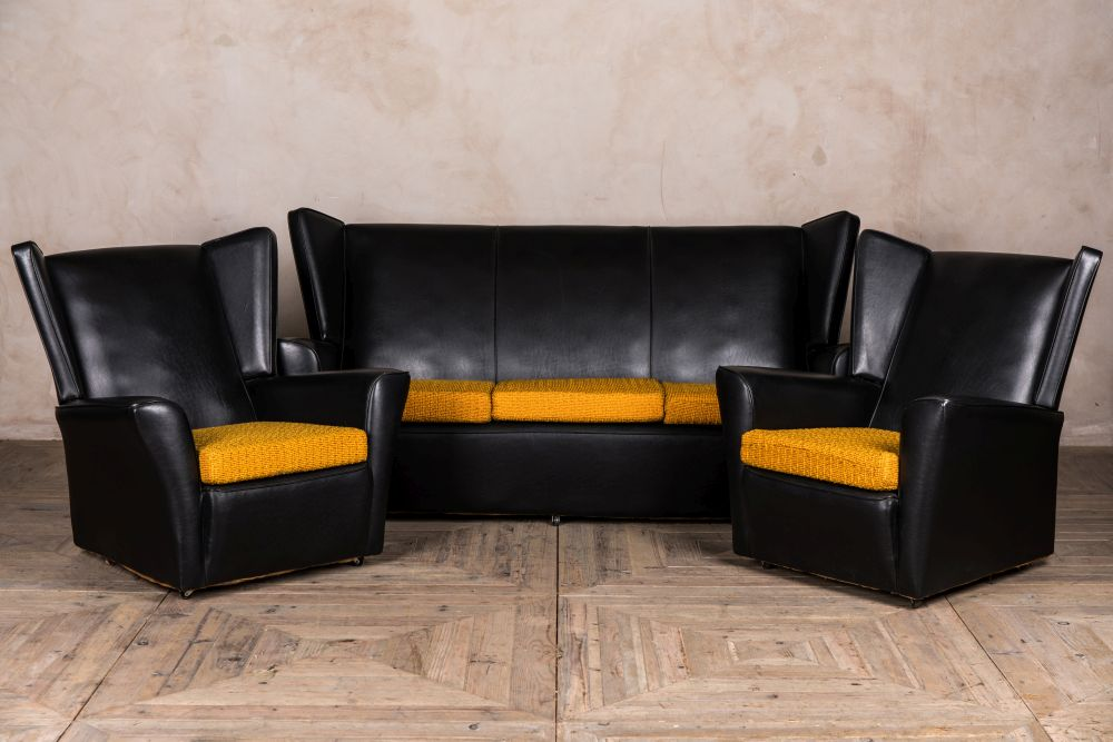 vintage winback sofa and armchairs