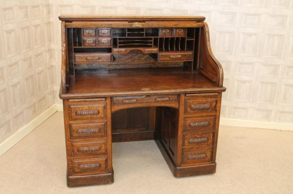 victorian roll top desk