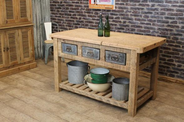 Vintage kitchen island