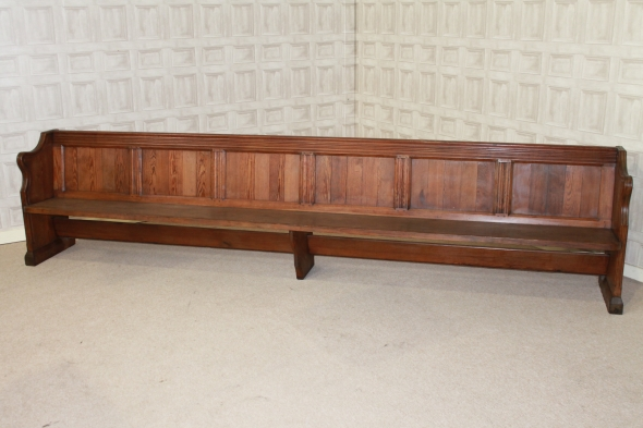 victorian pine church pew