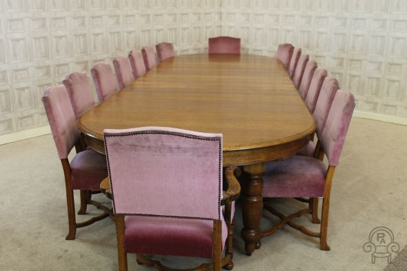 Table and 16 chairs dining set