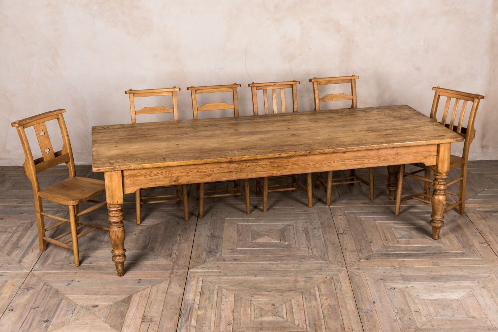 antique pine dining room table
