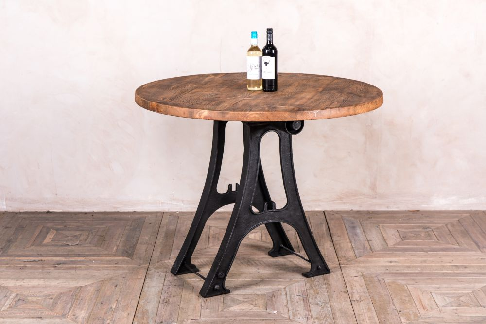 iron base dining table
