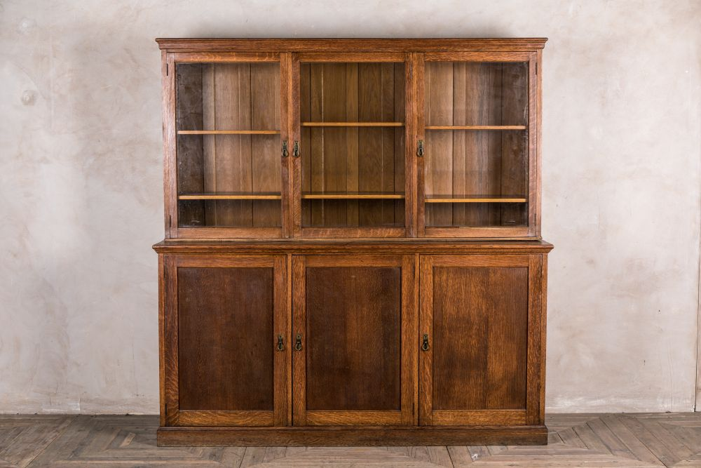 vintage oak bookcase
