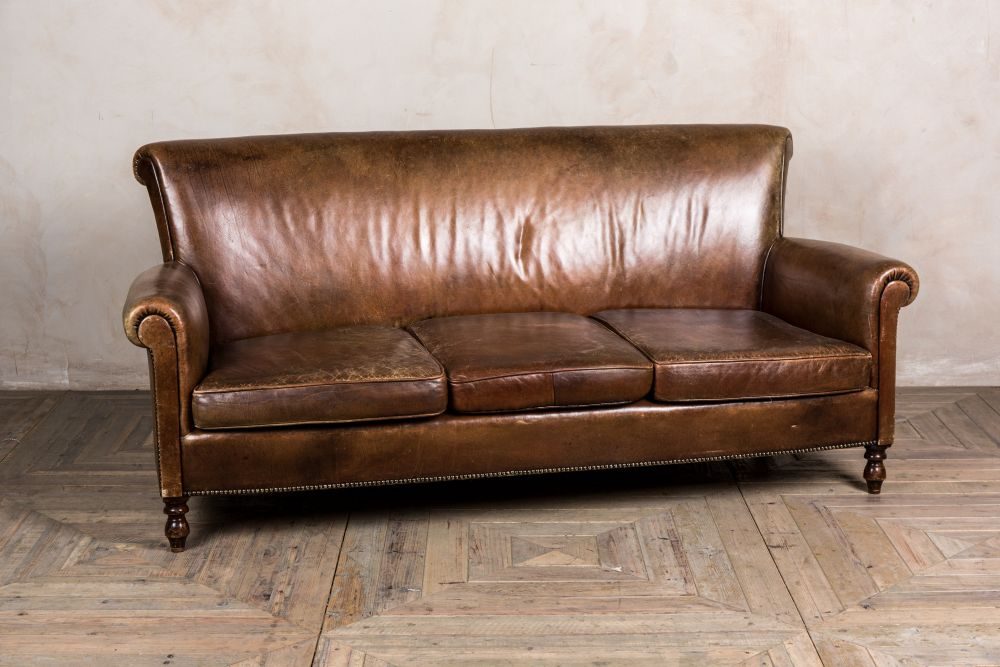 vintage leather sofa