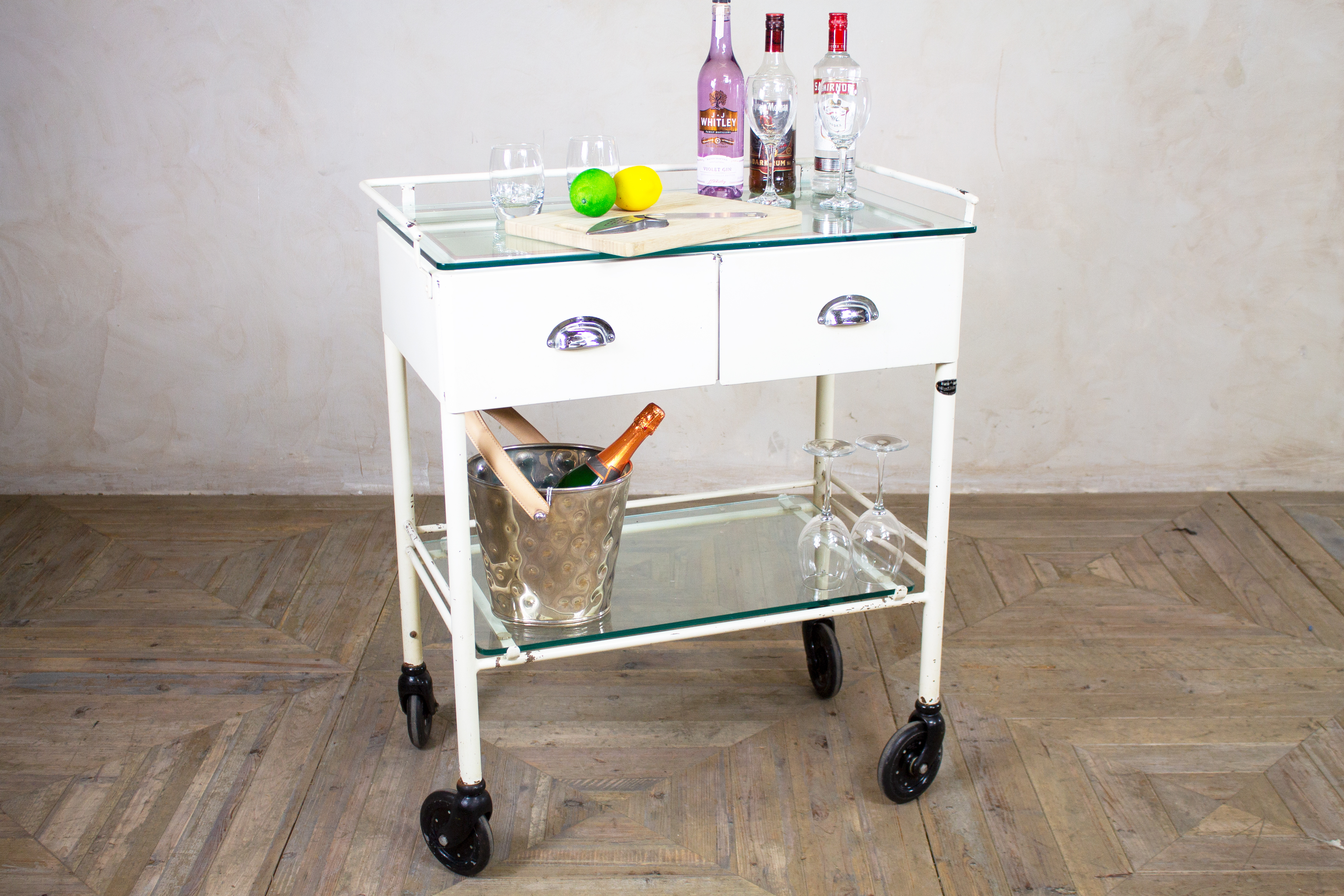 outdoor gin trolley