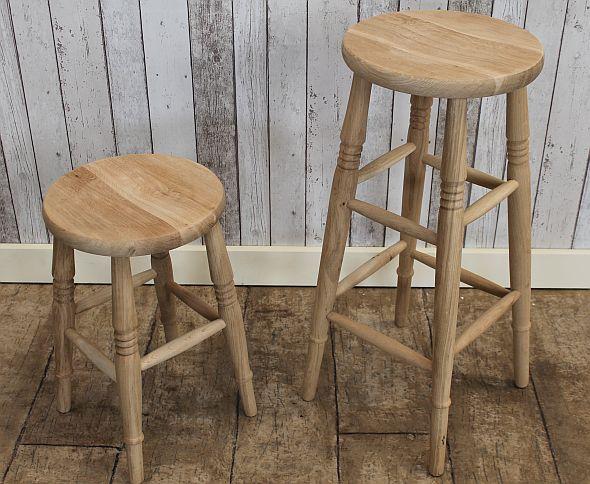3 Wooden Kitchen Stools