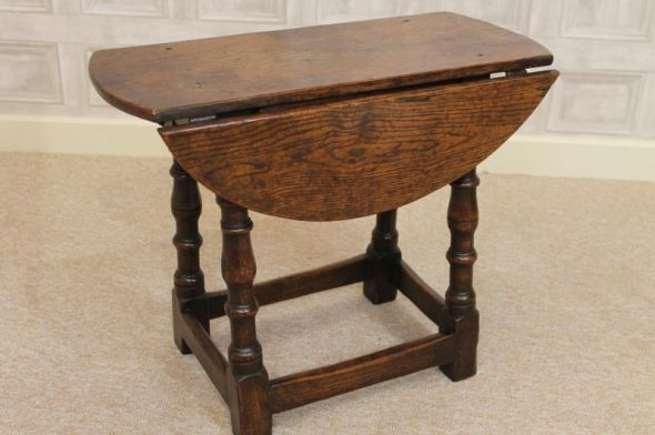 antique turn top table