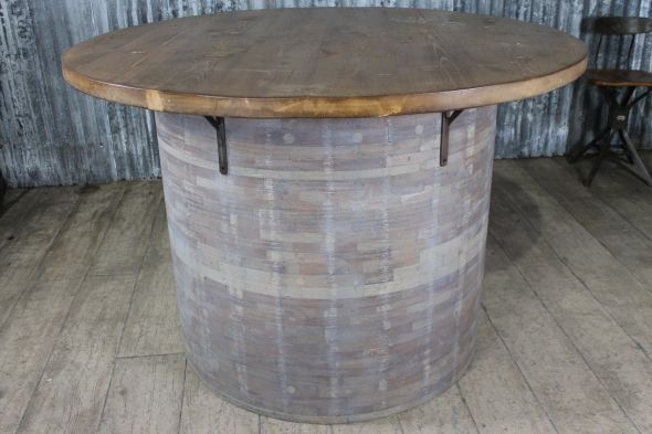 1.47m Industrial Barrel Style Table
