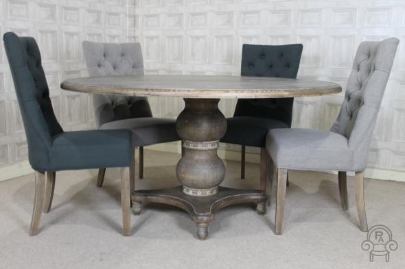 Pedestal Base Oak Dining Table Peppermill Interiors