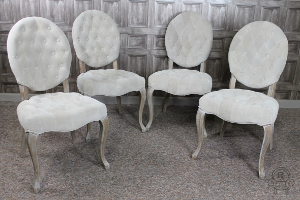 Upholstered Chairs French Style Suedette