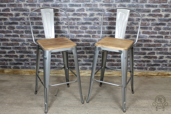 products barstool metal with pottery wood seat c barn stool decker