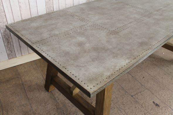 Zinc Dining Table Top Dining room ideas
