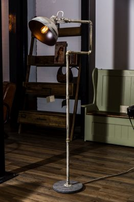 distressed metal floor lamp