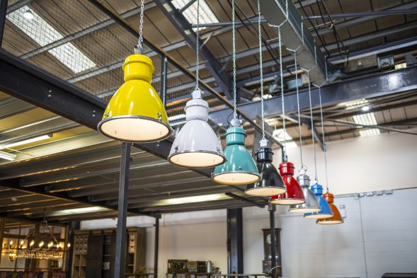 colourful vintage light fitting
