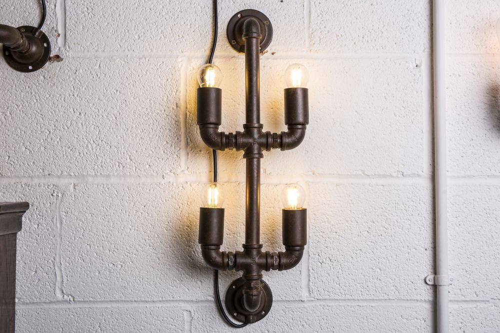 industrial style wall light fitting