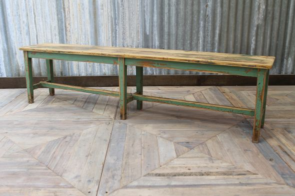industrial pine bench