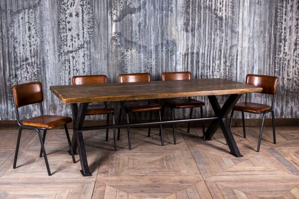 steel and timber table