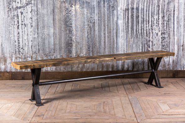 industrial style dining bench