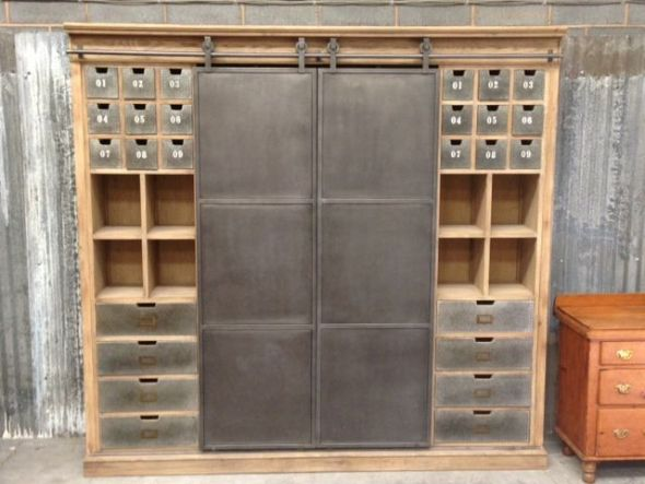 industrial style cabinet
