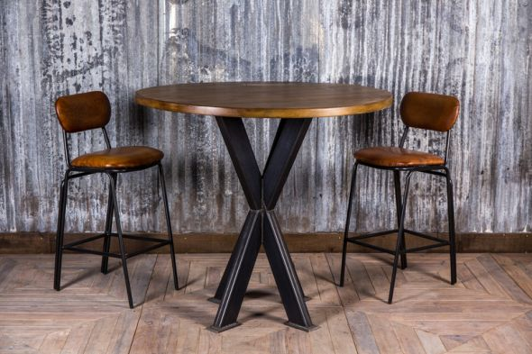 high bar table round poseur table with pine top