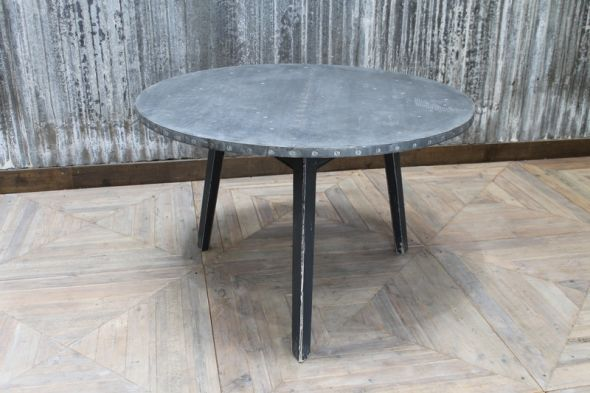 zinc top round table