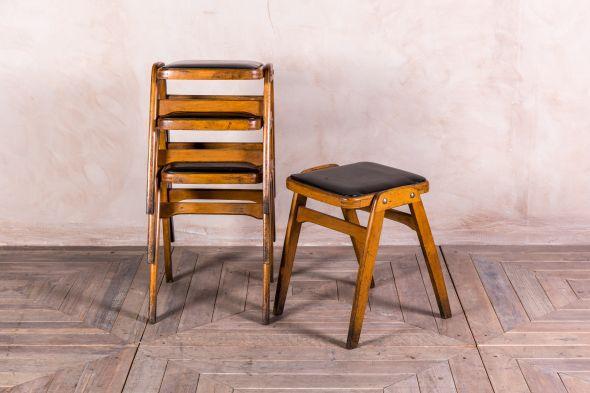 Surprising Original Ben Vintage Wooden Stools Peppermill Interiors Theyellowbook Wood Chair Design Ideas Theyellowbookinfo