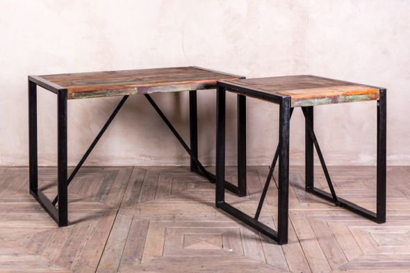Newquay Reclaimed Timber Cafe Table Range